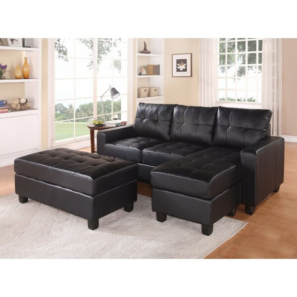 Low Priced Autenberry Right Hand Facing Sectional with Ottomans by Orren Ellis by Orren Ellis