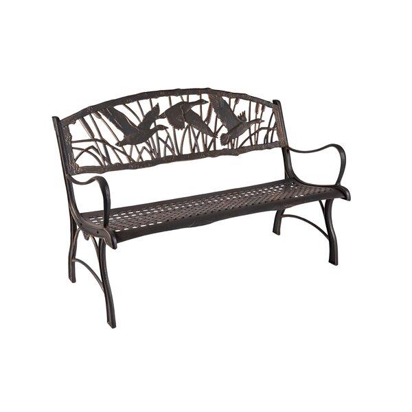Salamon Goose Cast Iron Park Bench by Gracie Oaks
