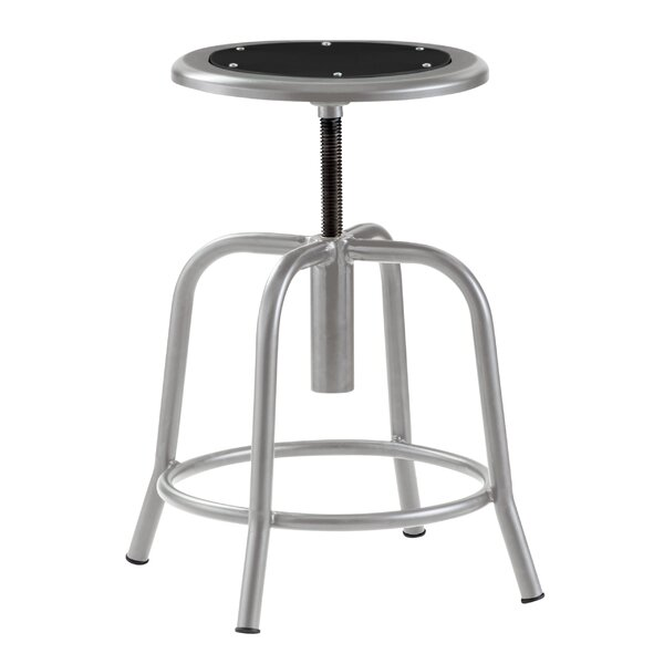 Adjustable Height Industrial Stool with Footring by National Public Seating