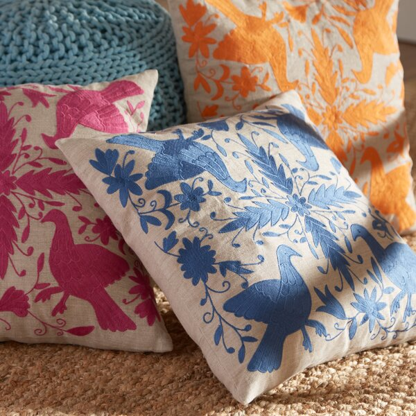 Satara Embroidered Pillow Cover by Birch Lane™