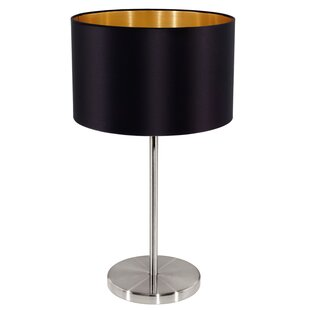 Brass table lamp black shade wayfair save mozeypictures Image collections