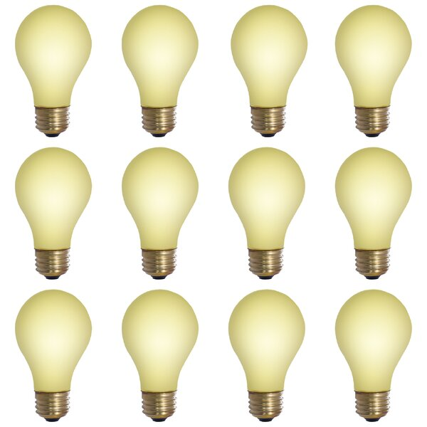 E26 Dimmable Incandescent Light Bulb Yellow (Set of 12) by Bulbrite Industries