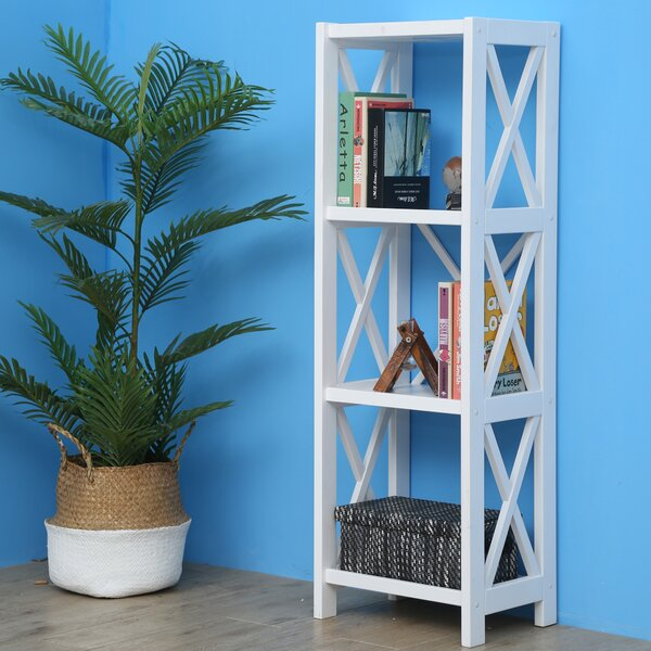 Leeper Narrow Etagere Bookcase By Highland Dunes