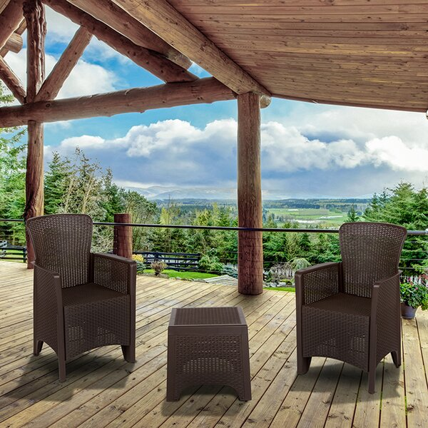 Waltonville 3 Piece Rattan Seating Group by Ebern Designs