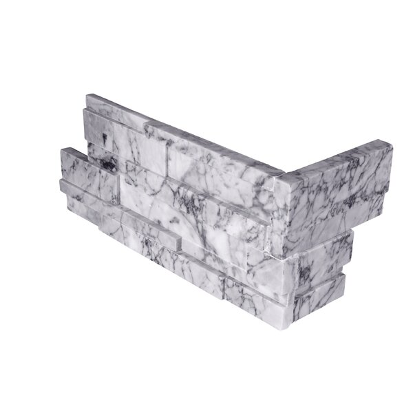 6 x 18 Marble Mosaic Tile in White/Gray by MSI