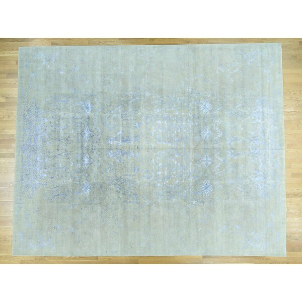 One-of-a-Kind Bradley Junction Handwoven Beige Wool/Silk Area Rug by Isabelline