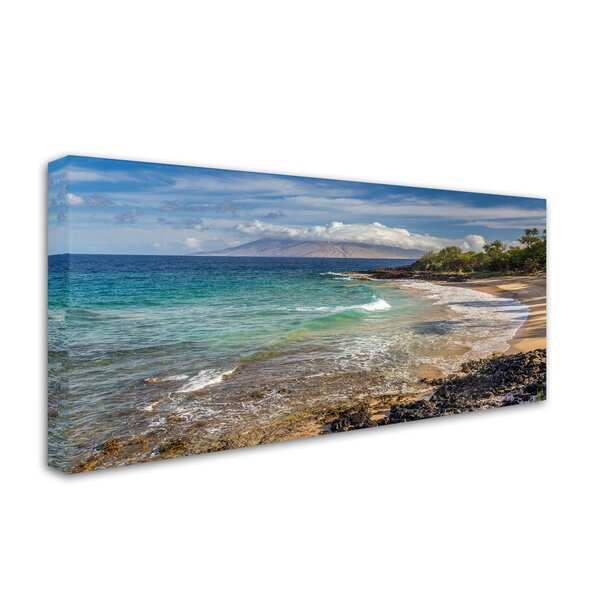 Little Beach Sunrise by Pierre Leclerc Photographic Print on Wrapped Canvas by Trademark Fine Art