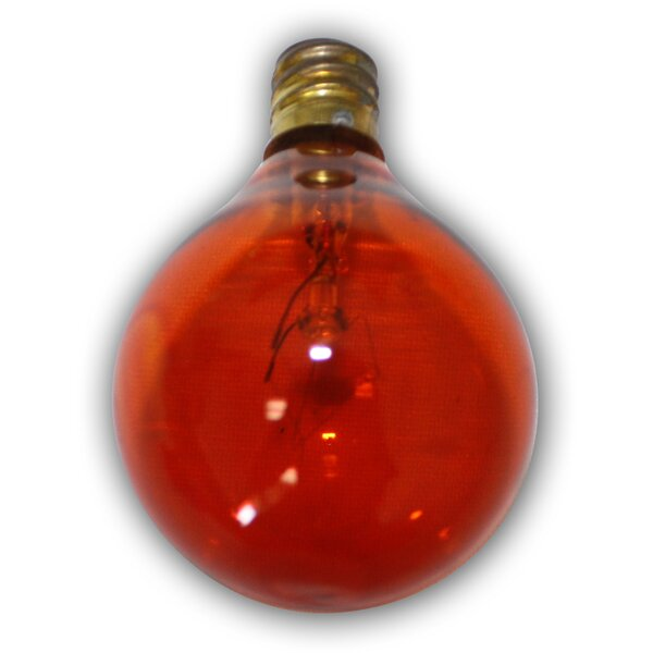 5W Red E12 Incandescent Vintage Filament Light Bulb by Aspen Brands