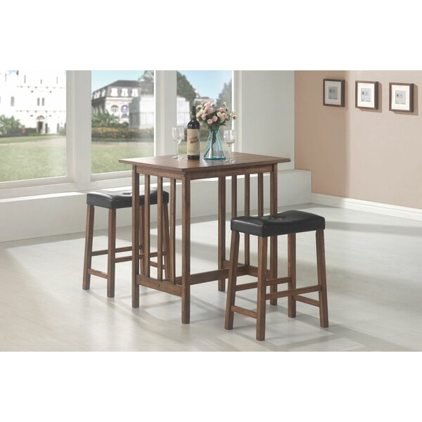 Mahaney Casual 3 Pieces Pub Table Set by Charlton Home