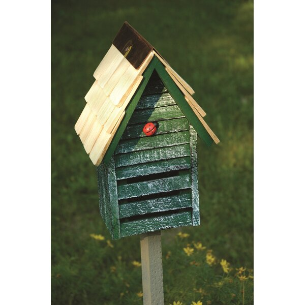 Lady Bug Loft 10 in x 8 in x 6 in Ladybug House by Heartwood