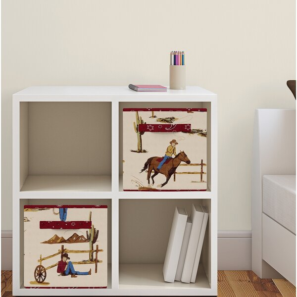Wild West Fabric Storage Cube by Sweet Jojo Designs