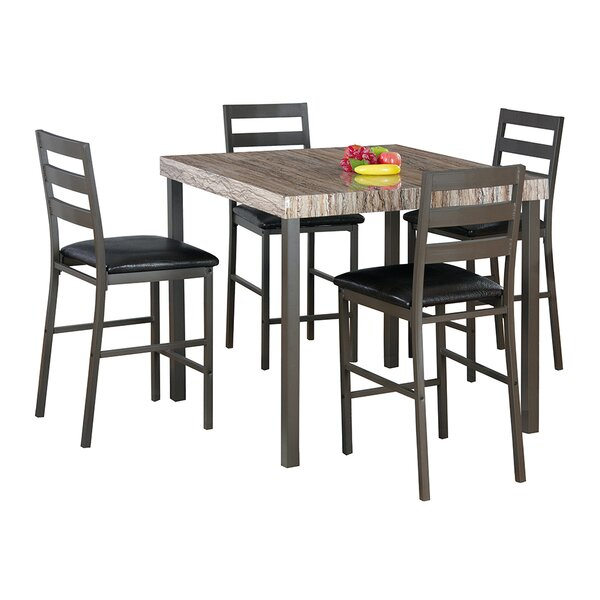Cora 5 Piece Bistro Dining Set by Latitude Run