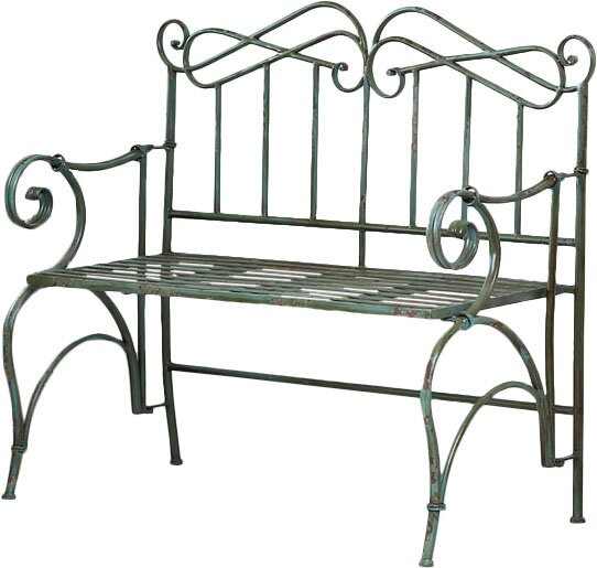 Verdi Antique Metal Garden Bench by Evergreen Enterprises, Inc