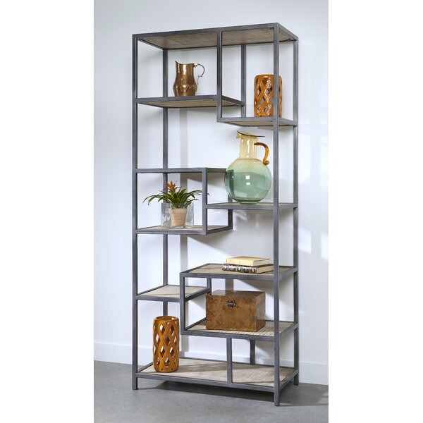 Dysart Tall Geometric Bookcase By 17 Stories
