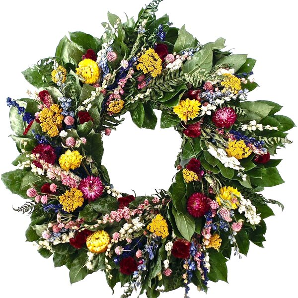 22 Classic Everlasting Wreath by Dried Flowers and Wreaths LLC