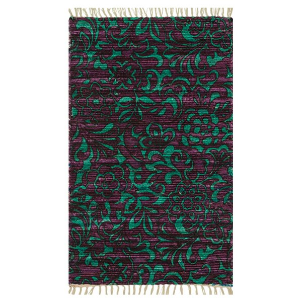 Zabel Purple/Turquoise Area Rug by Bloomsbury Market