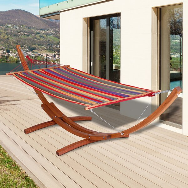 Ada Wide Arch Wooden Classic Hammock with Stand by Ebern Designs