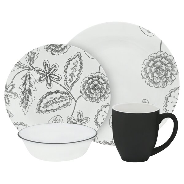 Vive Reminisce 16 Piece Dinnerware Set, Service for 4 by Corelle