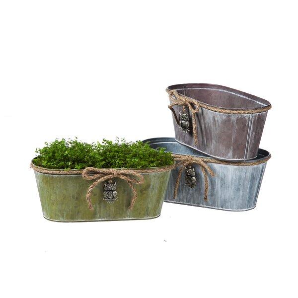 Vintage Oval Pot Planter (Set of 3) by Evergreen Flag & Garden