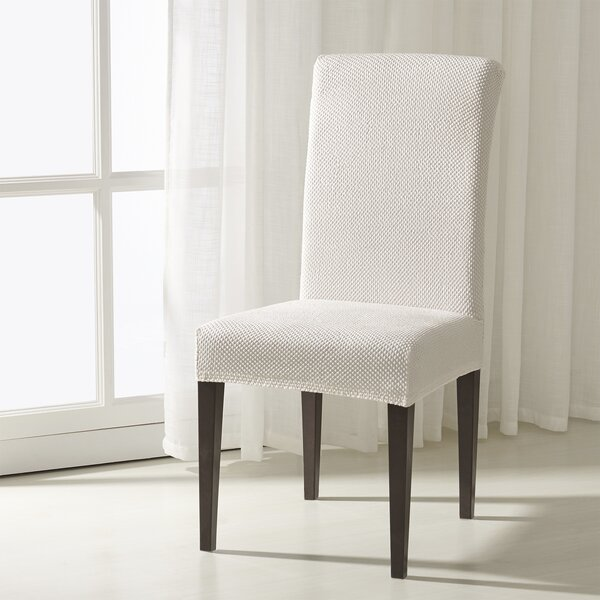 The Raised Dots Stretch Box Cushion Dining Chair Slipcover (Set of 2) by Winston Porter