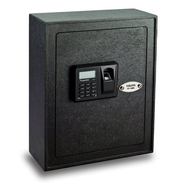 Viking Security Safe Small Biometric Keypad Wall Safe by Viking Security Safe