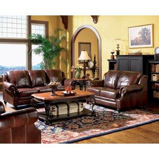 Javen 3 Piece Genuine Leather Living Room Set by Fleur De Lis Living