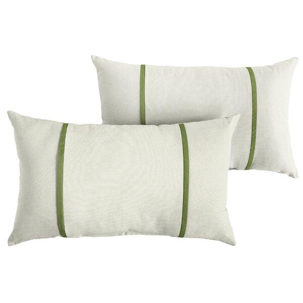 Ciccone Indoor/Outdoor Sunbrella  Lumbar Pillow (Set of 2) by Highland Dunes