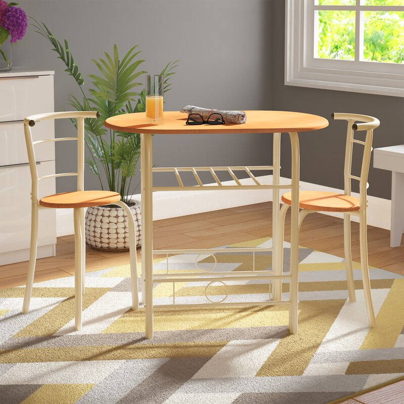 riley ave felicia dining set with 2 chairs  reviews