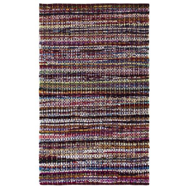 Darcie Handmade-Flatweave Cotton Burgundy Area Rug by World Menagerie