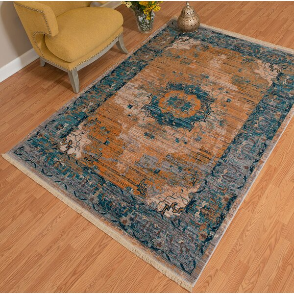 Tarra Power Loom Aqua Indoor Area Rug by Bloomsbury Market