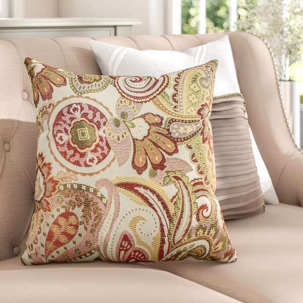 Gladden Square Throw Pillow (Set of 2) by Three Posts