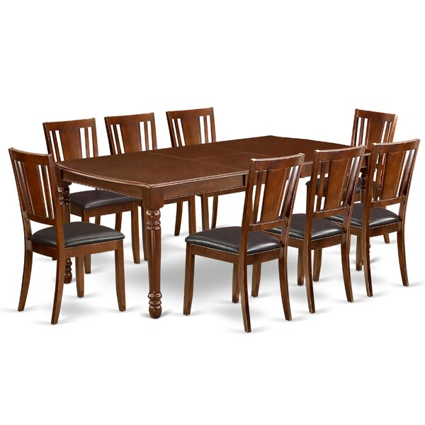 Angelia 9 Piece Extendable Solid Wood Dining Set by Alcott Hill Alcott Hill
