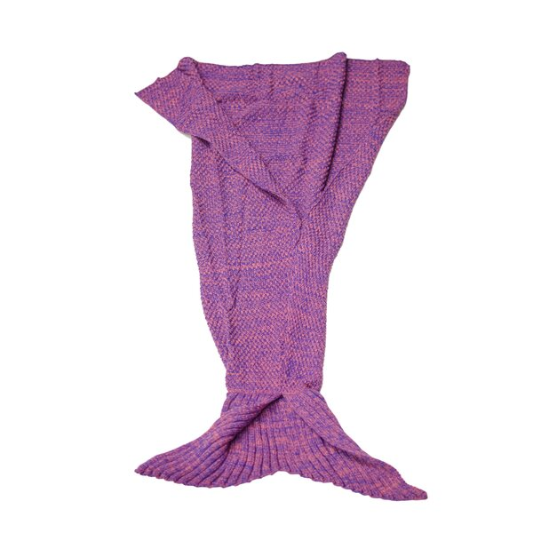 Nicklaus Mermaid Tail Knit Crochet Sleeping Blanket by Harriet Bee