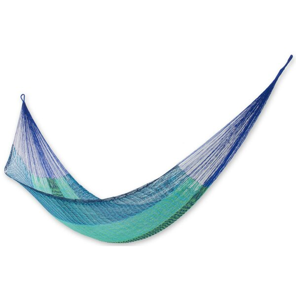Double Person Portable and Comfy Hand-Woven Mayan Artists of the Yucatan Natural Cotton with Hanging Accessories Included Camping And Outdoor Hammock by Novica