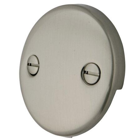 Made To Match Trip Lever 2 Hole Round Plate by Kingston Brass