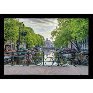 'Amsterdam' Wood Framed Photographic Print Poster by Alcott Hill
