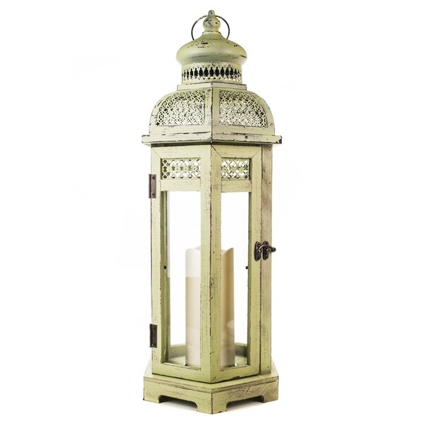 Wood Flameless Candle Lantern by World Menagerie
