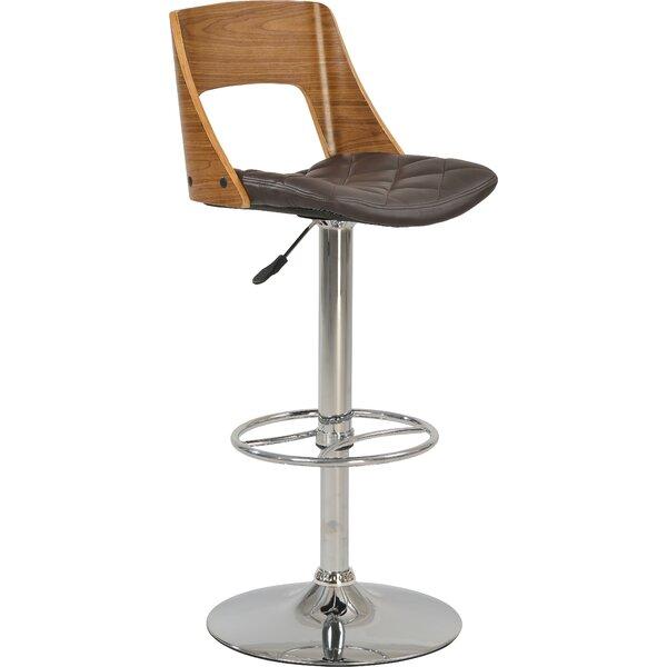 Odelle Adjustable Height Bar Stool by Orren Ellis Orren Ellis