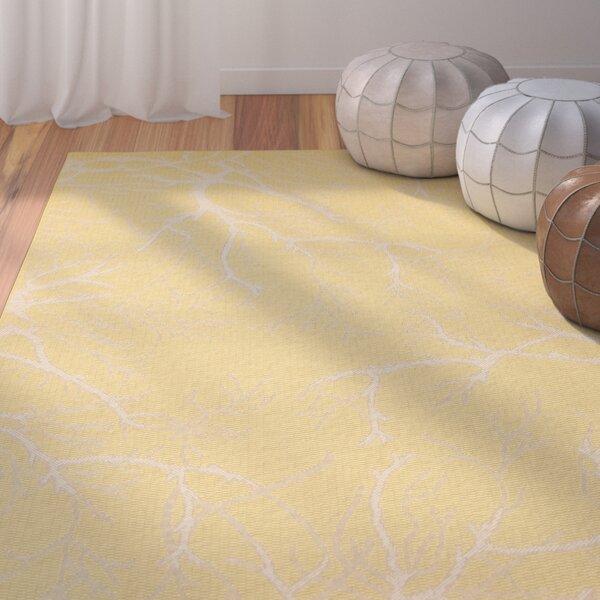 Alder Yellow Indoor/Outdoor Area Rug by Ebern Designs