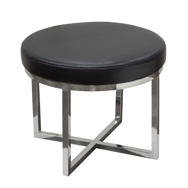 Ritz Round Accent Stool by Diamond Sofa