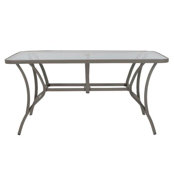 Kohlmeier Patio Steel Dining Table by Zipcode Design