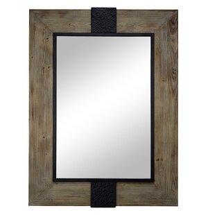 Buy luxury Delicia Decor Rustic Wood and Metal Wall Mirror ByGracie Oaks