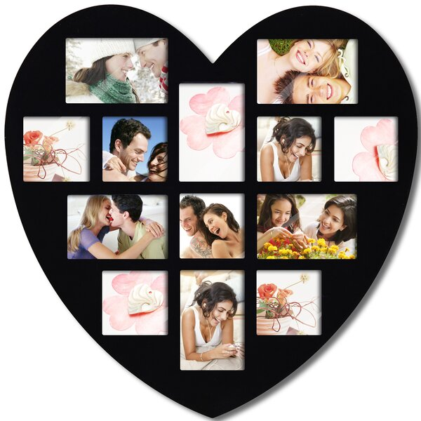 13 Opening Heart Collage Picture Frame by Adeco Tr
