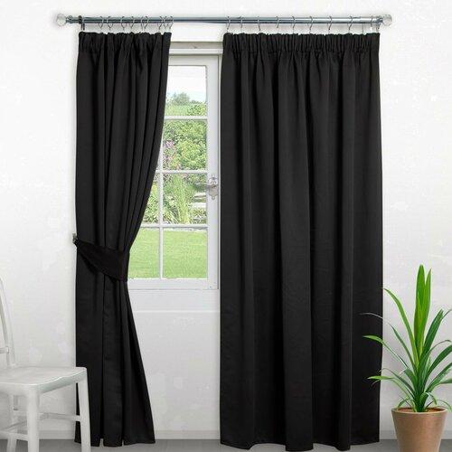 Pencil Pleat Blackout Thermal Curtain Symple Stuff Colour: B