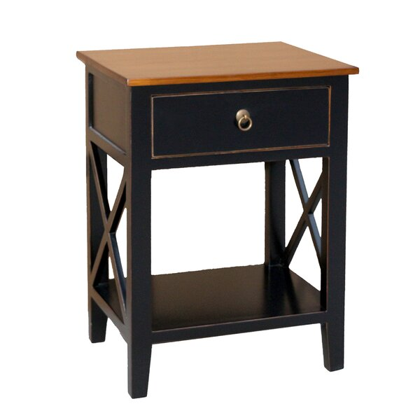 Chmura Unique End Table With Storage By Charlton Home