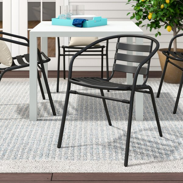 Pineville Stacking Patio Dining Chair (Set Of 4) By Zipcode Design