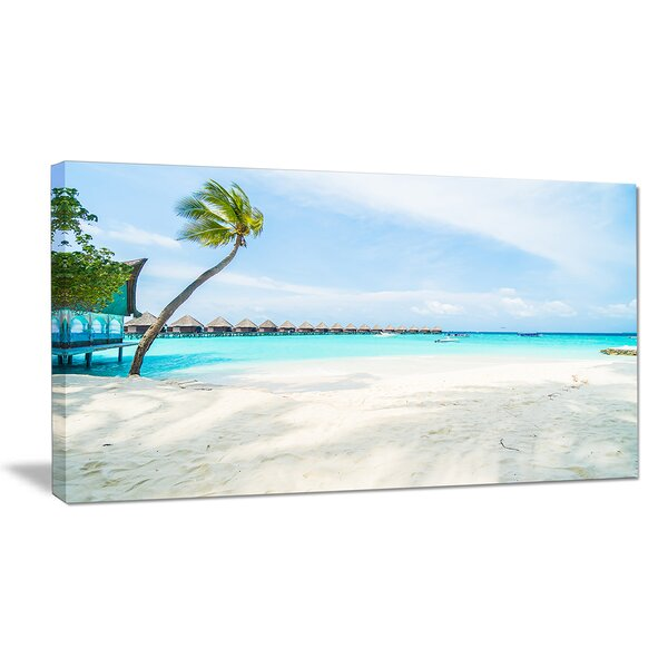 Tropical Maldives Island Seashore Photographic Print on Wrapped Canvas by Design Art