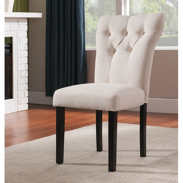 Derbyshire Upholstered Dining Chair (Set of 2) by Charlton Home