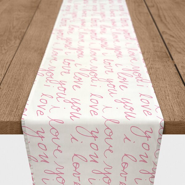 Fernandez I Love You Handwriting Table Runner by Ivy Bronx