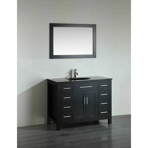 Hampton 43 Single Bathroom Vanity Set with Mirror by Bosconi
